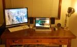 My computer desk setup back in U.S.